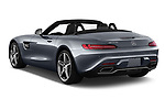 Car pictures of rear three quarter view of a 2018 Mercedes Benz AMG GT base 2 Door Roadster angular rear