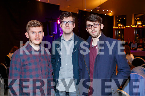 Pictured at the St. Vincent De Paul Fashion Show, at Ballyroe Heights Hotel, Tralee, on Thursday, November 23rd last, were l-r: Steve Clifford Michael Edgar and Tadgh Flynn (Societies Officer).