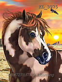 Interlitho, Lorenzo, REALISTIC ANIMALS, paintings, brown horse, eagle(KL3975,#A#) realistische Tiere, realista, illustrations, pinturas ,puzzles