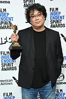 08 February 2020 - Santa Monica - Bong Joon Ho. 2020 Film Independent Spirit Awards - Press Room held at Santa Monica Pier. Photo Credit: Birdie Thompson/AdMedia