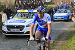 Matthieu Ladagnous (FRA) FDJ climbs Oude Kwaremont during the 60th edition of the Record Bank E3 Harelbeke 2017, Flanders, Belgium. 24th March 2017.<br /> Picture: Eoin Clarke | Cyclefile<br /> <br /> <br /> All photos usage must carry mandatory copyright credit (&copy; Cyclefile | Eoin Clarke)