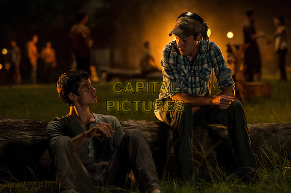 Wes Ball (Director), Dylan O'Brien<br /> on the set of The Maze Runner (2014) <br /> *Filmstill - Editorial Use Only*<br /> CAP/FB<br /> Image supplied by Capital Pictures