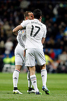 Jesse and Arbeloa of Real Madrid during La Liga match between Real Madrid and Sevilla at Santiago Bernabeu Stadium in Madrid, Spain. February 04, 2015. (ALTERPHOTOS/Caro Marin) /NORTEphoto.com