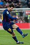 Lionel Andres Messi of FC Barcelona reacts during the La Liga 2017-18 match between FC Barcelona and Getafe FC at Camp Nou on 11 February 2018 in Barcelona, Spain. Photo by Vicens Gimenez / Power Sport Images