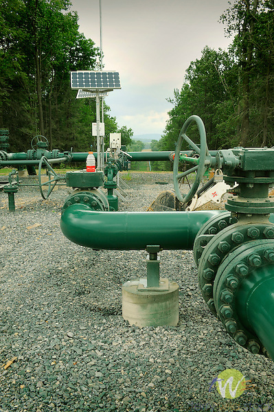 Marcellus shale gas industry. Chief Oil and Gas Company. Lycoming County, Penn Township. New gasline network at 655 Marquardt Road, Dale Bower Unit Lease.