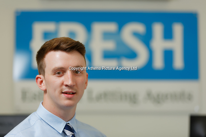 Members of staff working for Fresh Estate Agents in Morriston, Swansea, UK. Tuesday 10 July 2018