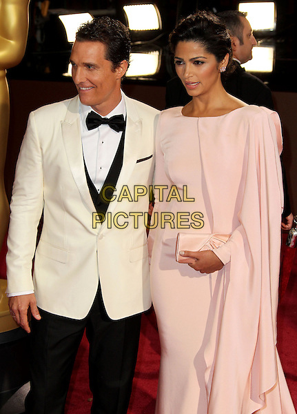 02 March 2014 - Hollywood, California - Matthew McConaughey, Camila Alves. 86th Annual Academy Awards held at the Dolby Theatre at Hollywood &amp; Highland Center. <br /> CAP/ADM/RE<br /> &copy;Russ Elliot/AdMedia/Capital Pictures