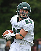 Cordell Fontana #33 of Lindenhurst dashes downfield during a Suffolk County Division I varsity football game against Northport at Glenn High School on Saturday, Sept. 2, 2017.