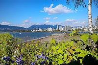 City sky line Kitsliano-Jericho beach, English bay,Vancouver, Canada
