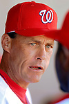 5 March 2006: Randy St. Claire, pitching coach for the Washington Nationals, in the dugout during a Spring Training game against the Baltimore Orioles. The Nationals defeated the Orioles 10-6 at Space Coast Stadium, in Viera Florida...Mandatory Photo Credit: Ed Wolfstein..