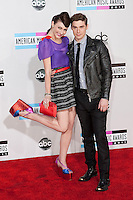 11/20/11 Los Angeles, CA: Amy Heidemann and Nick Noonan during the arrivals at the 2011 American Music Awards held at the Nokia Theatre.