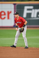 Erie SeaWolves second baseman Kody Clemens (8) during an Eastern League game against the Akron RubberDucks on August 30, 2019 at Canal Park in Akron, Ohio.  Erie defeated Akron 3-2.  (Mike Janes/Four Seam Images)