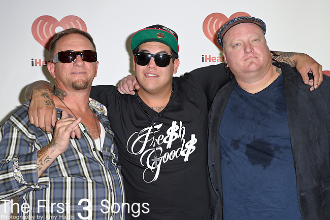 Bud Gaugh, Rome Ramirez, and Eric Wilson of Sublime with Rome at the 2011 iHeartRadio Music Festival on September 24, 2011 at the MGM Grand Garden Arena in Las Vegas, Nevada.