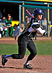 15 April 2009: University at Albany Great Danes outfielder Jessica Bergin, a Sophomore from New Windsor, NY, in action against the University of Vermont Catamounts at Archie Post Field in Burlington, Vermont. The Great Danes swept the Catamounts 2-0 and 12-0 in the afternoon double-header. Mandatory Photo Credit: Ed Wolfstein Photo