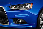 Front headlight detail on a 2012 Mitsubishi Lancer Sportback GT