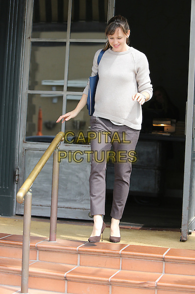 BRENTWOOD, CA - MARCH 25: Jennifer Garner seen leaving a restaurant in Brentwood, California on March 25, 2014. <br /> CAP/MPI/mpi99<br /> &copy;mpi99/MediaPunch/Capital Pictures