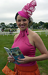 KILLARNEY RACES THURSDAY JULY 14TH 2005<br /> All smiles is RTE Off The Rails presenter Caroline Morahan who was judging the Dawn Milk 'Queen of Fashion' at Killarney Races on Thursday.<br /> Picture by Don MacMonagle