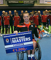 22-12-13,Netherlands, Rotterdam,  Topsportcentrum, Tennis Masters, Wheelchair Final, Maikel Scheffers(NED)    wins the Masters<br /> Photo: Henk Koster