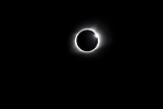 Solar eclipse over Carbondale, Ill, on August 21, 2017, showing totality, and diamond ring.