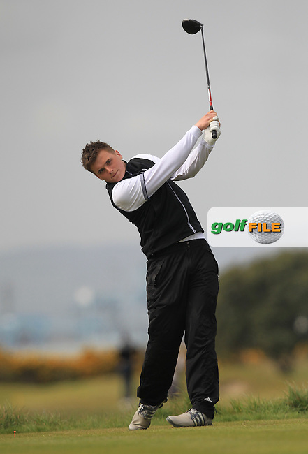 James Sugrue (Mallow) on the 3rd tee during Round 2 of the Flogas Irish Amateur Open Championship at Royal Dublin on Friday 6th May 2016.<br /> Picture:  Thos Caffrey / www.golffile.ie