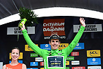 Daryl Impey (RSA) Mitchelton-Scott retains the points Maillot Vert at the end of Stage 4 of the 2018 Criterium du Dauphine 2018 running 181km from Chazey sur Ain to Lans en Vercors, France. 7th June 2018.<br /> Picture: ASO/Alex Broadway | Cyclefile<br /> <br /> <br /> All photos usage must carry mandatory copyright credit (© Cyclefile | ASO/Alex Broadway)