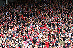Sheffield United's fans celebrate during the League One match at Bramall Lane, Sheffield. Picture date: April 30th, 2017. Pic David Klein/Sportimage