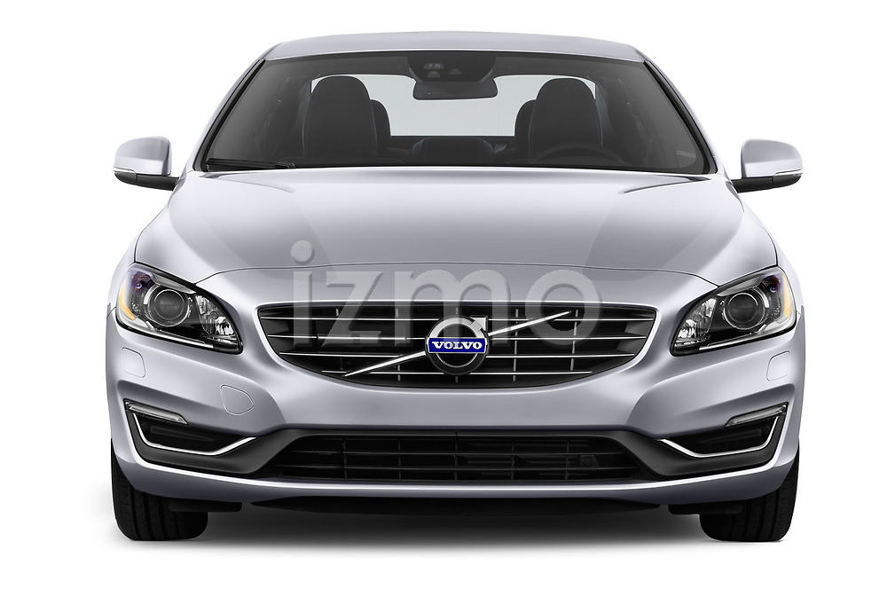 Car photography straight front view of a 2018 Volvo S60 T5 4 Door Sedan Front View