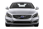 Car photography straight front view of a 2017 Volvo S60 T5 4 Door Sedan Front View