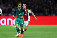 Frenkie de Jong of Ajax and Christian Eriksen of Tottenham Hotspur during AFC Ajax vs Tottenham Hotspur, UEFA Champions League Football at the Johan Cruyff Arena on 8th May 2019