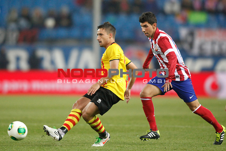 Atletico de Madrid¬¥s  and Saint Andreu¬¥s  during Copa del Rey 2013-14 match at Vicente Calderon Stadium in Madrid, Spain. Foto © nordphoto / Victor Blanco) *** Local Caption ***