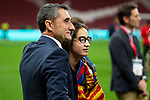 FC Barcelona coach Ernesto Valverde celebrating the championship during King's Cup Finals match between Sevilla FC and FC Barcelona at Wanda Metropolitano in Madrid, Spain. April 21, 2018. (ALTERPHOTOS/Borja B.Hojas)