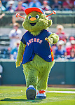 4 March 2016: Houston Astros mascot Orbit entertains the crowd prior to a Spring Training pre-season game against the St. Louis Cardinals at Osceola County Stadium in Kissimmee, Florida. The Astros defeated the Cardinals 6-3 in Grapefruit League play. Mandatory Credit: Ed Wolfstein Photo *** RAW (NEF) Image File Available ***