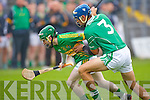 Lixnaw's James Flaherty gets ahead of Ballyduff's Liam Boyle in the Senior County Championship Final at Austin Stack park, Tralee on Sunday.