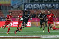 New Zealand v Spain. Action from the 2019 HSBC World Sevens Series Hamilton at FMG Stadium in Hamilton, New Zealand on Saturday, 26 January 2018. Photo: Shane Wenzlick / lintottphoto.co.nz