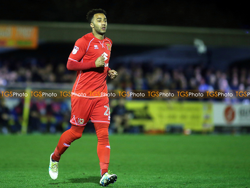 Nicky Maynard of MK Dons during AFC Wimbledon vs MK Dons, Sky Bet EFL League 1 Football at the Cherry Red Records Stadium on 14th March 2017