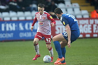 Dan Kemp of Stevenage and Cameron Burgess of Salford City during Stevenage vs Salford City, Sky Bet EFL League 2 Football at the Lamex Stadium on 15th February 2020