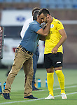 Alashkert FC v St Johnstone...02.07.15   Republican Stadium, Yerevan, Armenia....UEFA Europa League Qualifier.<br /> Mihran Manasyan celebrates his goal with head coach Abrahim Khashmanyan<br /> Picture by Graeme Hart.<br /> Copyright Perthshire Picture Agency<br /> Tel: 01738 623350  Mobile: 07990 594431