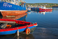 County Kerry, Ireland: Fishing boats in Portmagee Harbor on the Skellig Ring