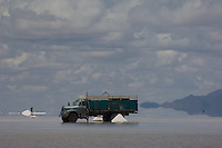 Many local people are employed in collecting salt from the salt flats near Uyuni in Bolivia (Salar de Uyuni), processing, packaging and selling it. Digging up the salt, which gets packed down hard and, in the summer months is under water, is hard physical labour and then it also has to be shovelled into the lorries which come by from time to time.