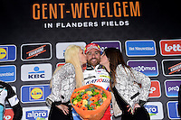 Luca Paolini (Team Katusha) Esultanza Podio <br /> 29-03-2015 Ciclismo Gand Wevelgem <br /> Foto Nico Vereecken Photonews / Insidefoto
