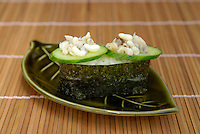 "Green tree ant larvae sushi. Tokyo resident Shoichi Uchiyama is the author of ""Fun Insect Cooking"". His blog on the topic gets 400 hits a day. He believes insects could one day be the solution to food shortages, and that rearing bugs at home could dispel food safety worries."