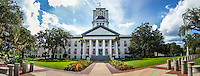TALLAHASSEE, FLA. 9/2/15-Forida&rsquo;s Historic Capitol, foreground, and Capitol buildings in Tallahassee.<br />