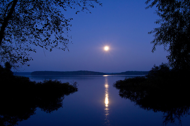 Full moon over Big Sandy River