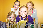 FUN & GAMES: Enjoying the summer camp fun and games in Camp Community Centre were front l-r: Clodagh Love and Sinead O'Mahony. Back l-r: Sophie O'Brien and Lucy Mulcahy.   Copyright Kerry's Eye 2008