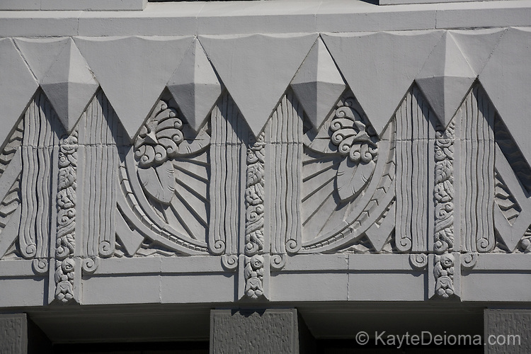 The historic Art Deco Lafayette Building in the East Village of Long Beach, CA