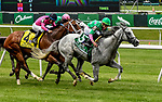 ELMONT, NY - JUNE 09: Disco Partner  #5, ridden by Irad Ortiz, Jr., wins the Jaipur Invitational Stakes on Belmont Stakes Day at Belmont Park on June 9, 2018 in Elmont, New York. (Photo by Bob Mayberger/Eclipse Sportswire/Getty Images)