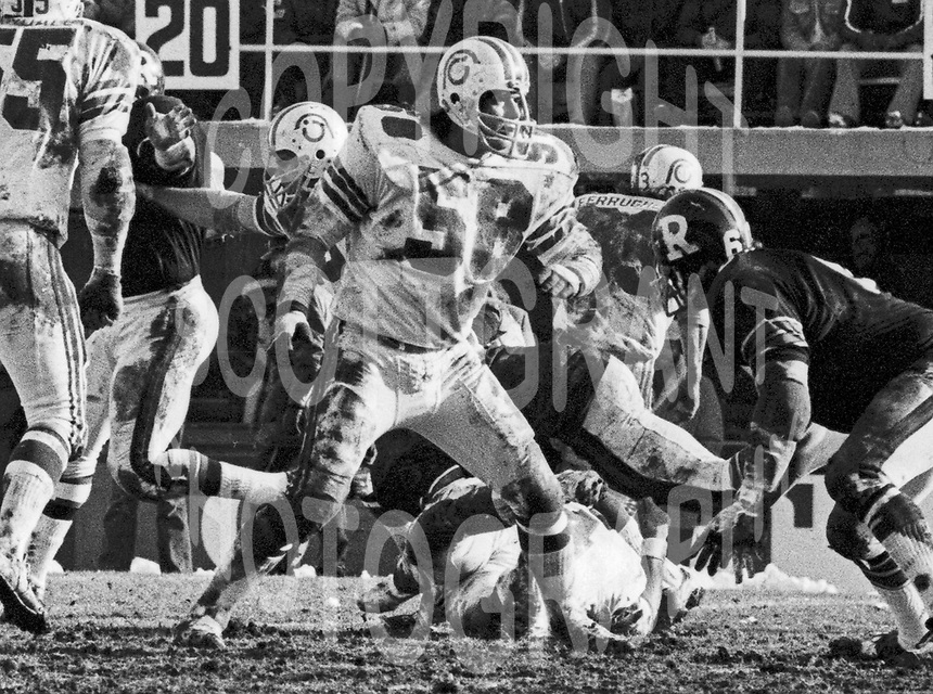 Dave Braggins Montreal Alouettes 1973. Photo Ted Grant
