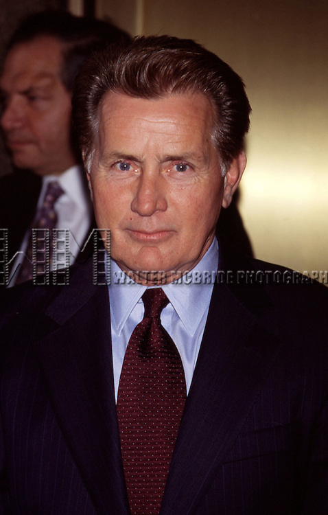 Martin Sheen of The West Wing .NBC Network Upfront 2001.Radio City Music Hall, New York City.