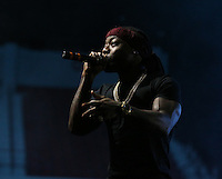 Maroon Madness 2016 - performance by Floridian rapper Ace Hood.<br />  (photo by Kelly Price / &copy; Mississippi State University Athletics)