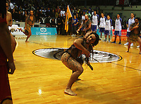 Maori performers before the tip-off during game two of the NBL Final basketball match between the Wellington Saints and Waikato Pistons at TSB Bank Arena, Wellington, New Zealand on Friday 20 June 2008. Photo: Dave Lintott / lintottphoto.co.nz